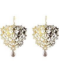 Eina Ahluwalia Baroque Earrings with Pearl Drops - Lyst