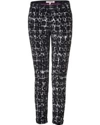 Juicy Couture - Black Combo Leopard And Plaid Pant - Black - Lyst