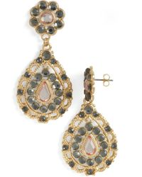 ModCloth Glamour Of The Gardens Earrings - Lyst