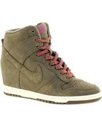 Nike - Dunk Sky High Olive Wedge Trainers - Lyst