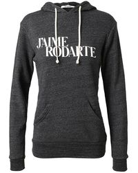 Rodarte Love Hate Hooded Sweatshirt - Lyst