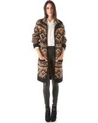 Yigal Azrouël - Fair Isle Sweater Coat - Lyst