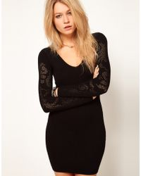 Asos Baroque Body Con Dress - Lyst