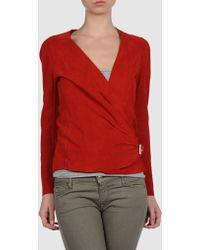 Balmain Jacket red - Lyst