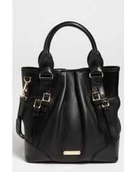 Burberry Bridle Trim Leather Tote - Lyst