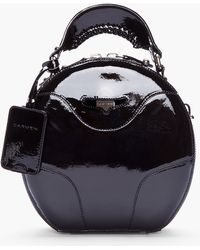 Carven Black Patent Leather Round Bag - Lyst