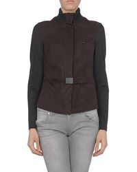 Donna Karan New York Leather Outerwear - Lyst