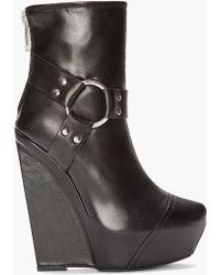 Gareth Pugh - Black Platform Harness Boots - Lyst