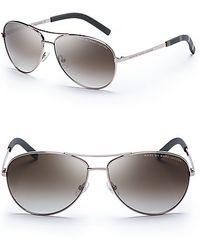 Marc By Marc Jacobs Side Stripe Aviator Sunglasses - Lyst