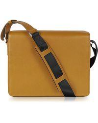 Porsche Design Mustard Yellow Leather Messenger Bag - Lyst