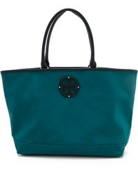 Tory Burch Stacked Logo Tote - Lyst