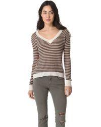 Enza Costa Cashmere Colorblock Sweater - Lyst