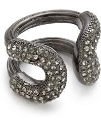 Giles & Brother Athena Ring  Worn Hematite - Lyst