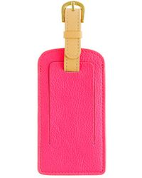J.Crew Leather Colorblock Luggage Tag - Lyst