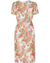 Stella McCartney Floral Jacquard Dress - Lyst