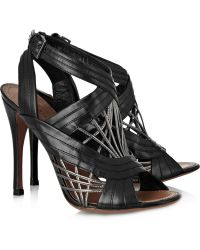 Alaïa Multistrap Leather Sandals - Lyst