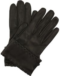 Alexander McQueen Whipstitched Leather Gloves - Lyst
