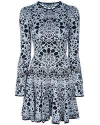Alexander McQueen Floral Print Dress - Lyst