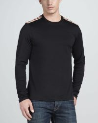Burberry Brit - Check Shoulder Tee   - Lyst