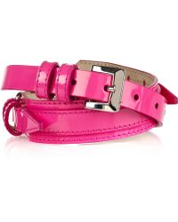 Burberry Prorsum - Buckle Detailed Patent Leather Belt - Lyst