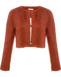 Commuun   Orange Alpaca Cropped Jacket   Lyst
