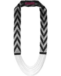 Fiona Paxton - Coco Bead and Chainembellished Cottonmesh Necklace - Lyst