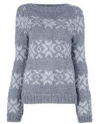 Gudrun & Gudrun - Snowflake Knit Jumper - Lyst