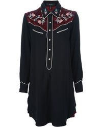 Isabel Marant Western Shirt Dress - Lyst