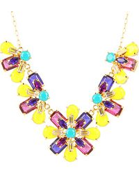 Kate Spade Kaleidoscope Floral Statement Necklace - Lyst