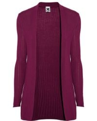 M Missoni Pointelle Ribbed Cardgian - Lyst