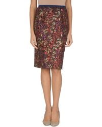 Marc Jacobs Knee Length Skirt - Lyst
