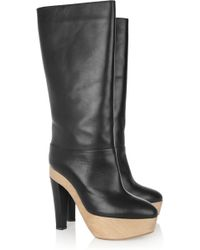 Marni Leather Knee Boots - Lyst
