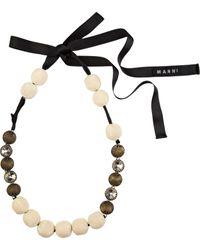 Marni Swarovski Embellished Bead Necklace - Lyst
