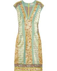 Matthew Williamson Paneled Brocade Dress - Lyst