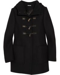 Miu Miu Hooded Wool Duffle Coat - Lyst