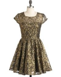 ModCloth Golden Garden Dress pink - Lyst