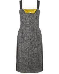 Narciso Rodriguez Tweed Silk Pencil Dress - Lyst