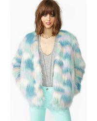 Nasty Gal Fantasy Faux Fur Coat - Lyst