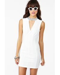 Nasty Gal Crystallized Cutout Dress white - Lyst