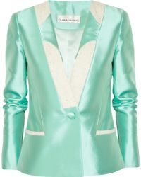 Prabal Gurung Wool and Silkblend Jacket - Lyst