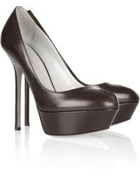 Sergio Rossi Cachet Leather Pumps - Lyst