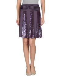 Valentino Knee Length Skirt purple - Lyst