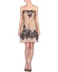 Valentino Short Dress pink - Lyst