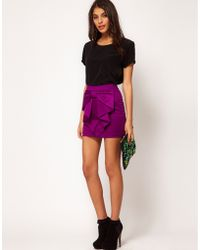 ASOS Collection Asos Mini Skirt with Bow Front - Lyst