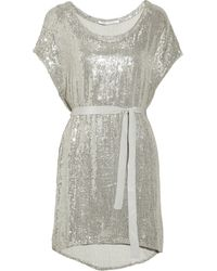Diane Von Furstenberg Sol Sequined Silkchiffon Dress - Lyst