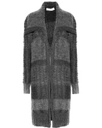 Donna Karan New York Chunkyknit Cardicoat - Lyst