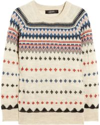 Isabel Marant Moonsfield Intarsia Wool Blend Sweater - Lyst