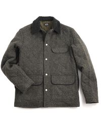 A.P.C. Apc Military Oldschool Jacket Anthracite - Lyst