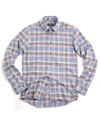 A.P.C. Apc Button Down Vintage Shirt Blue Grey Heather - Lyst