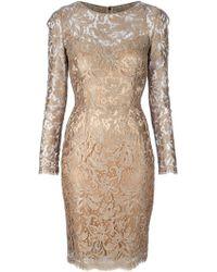 Dolce & Gabbana Lace Dress gold - Lyst